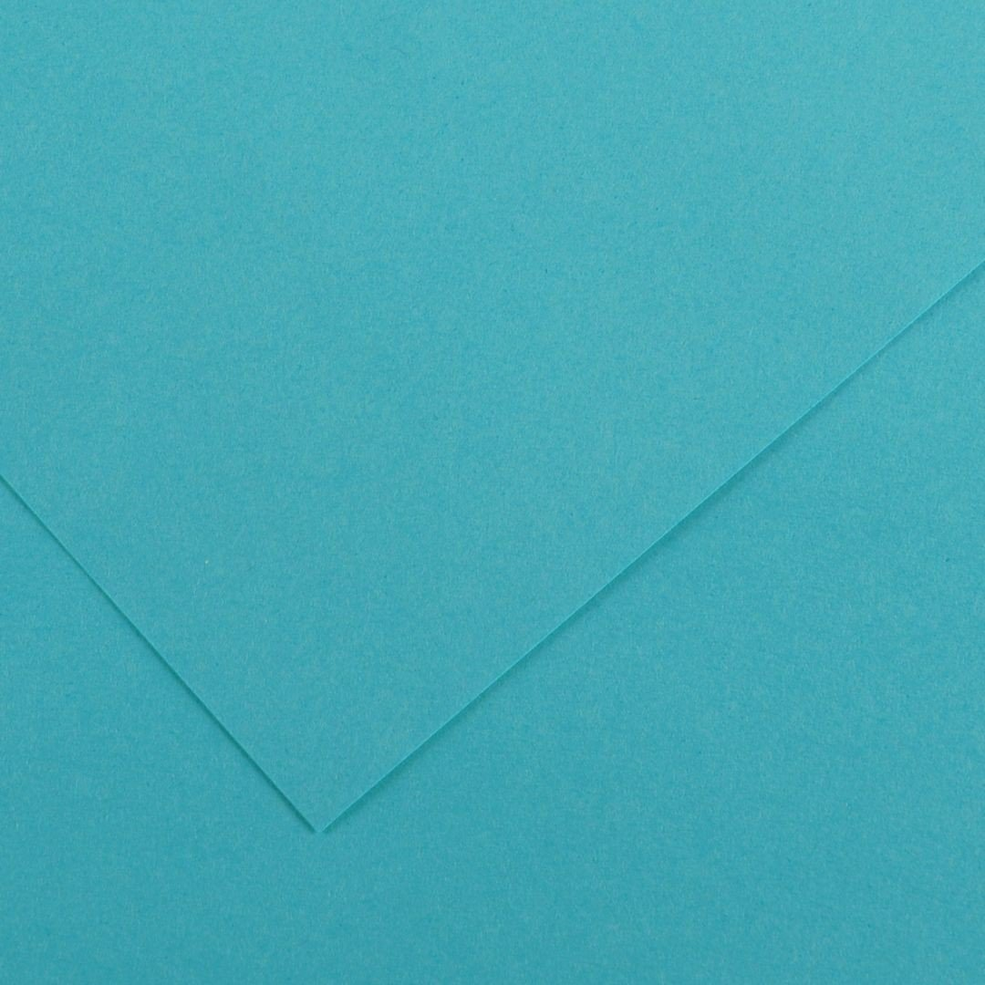 Canson Colorline Grainy Paper - Turquoise Blue (pkt/25sheets)