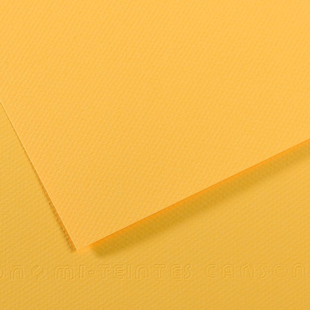 Canson Mi-Teintes Paper - Canary (pkt/25sheets)