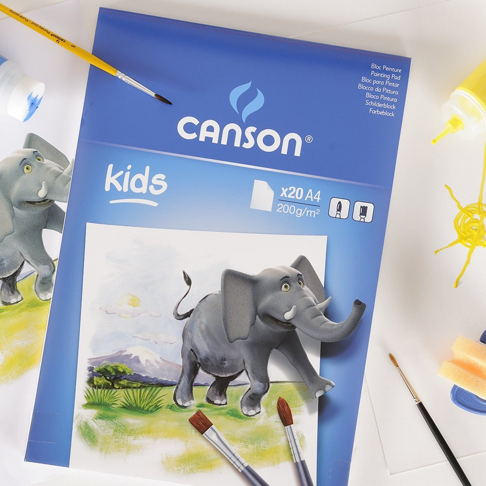 Canson Painting Paper Pads For Kids - A4 (pkt/20s)