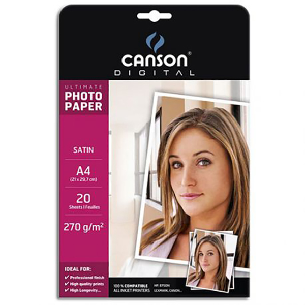 Canson Satin Photo Paper (Ultimate Range)