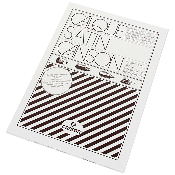 Canson CAN11-127 Satin Tracing Paper 90gsm - A3 (pkt/250s)