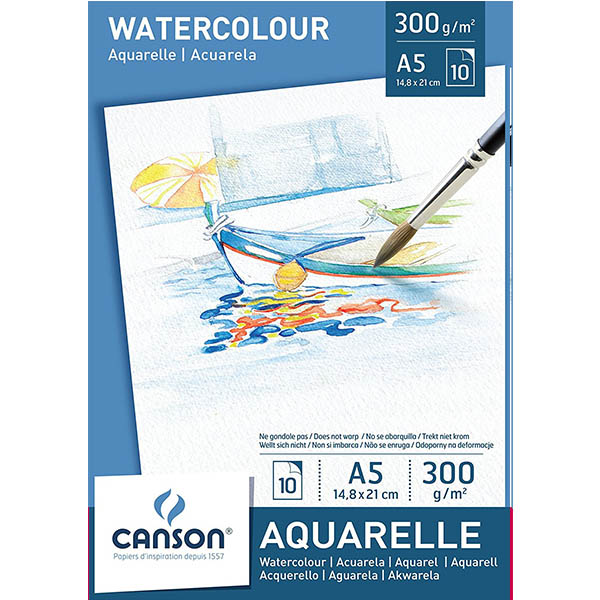Canson Watercolor Paper Pads - A5 (pkt/10s)