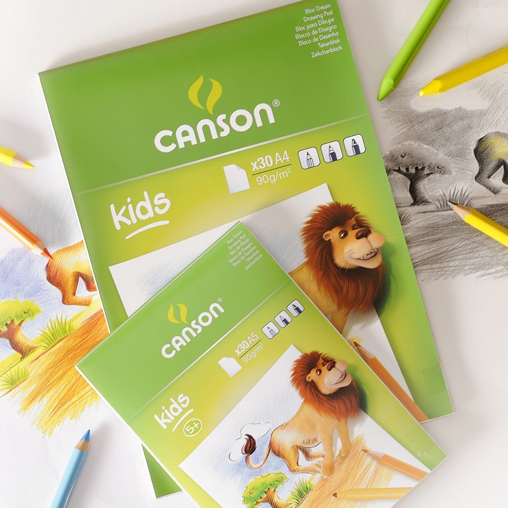 Canson White Drawing Paper Pads For Kids - A4 (pkt/30s)