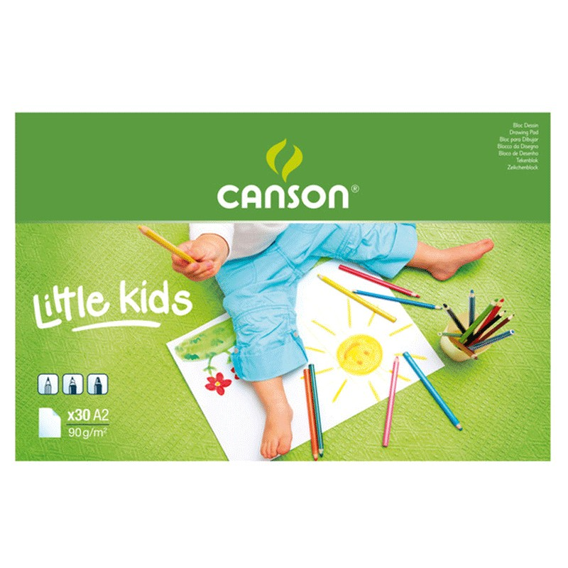 Canson White Drawing Paper Pads For Little Kids - A2 (pkt/20s)