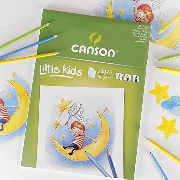 Canson White Drawing Paper Pads For Little Kids - A3 (pkt/30s)
