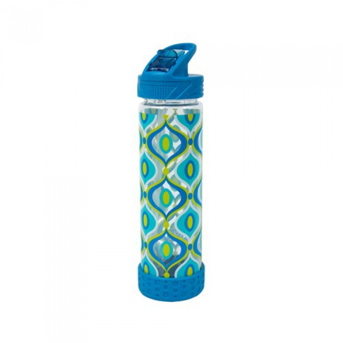 Cool Gear Straight Wall Tritan Water Bottle With Bumper - Blue (0.65L)