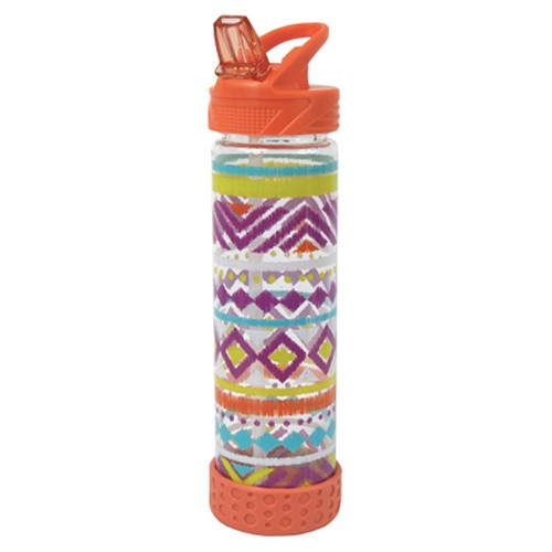 Cool Gear Straight Wall Printed Water Bottle - Orange (650ml)