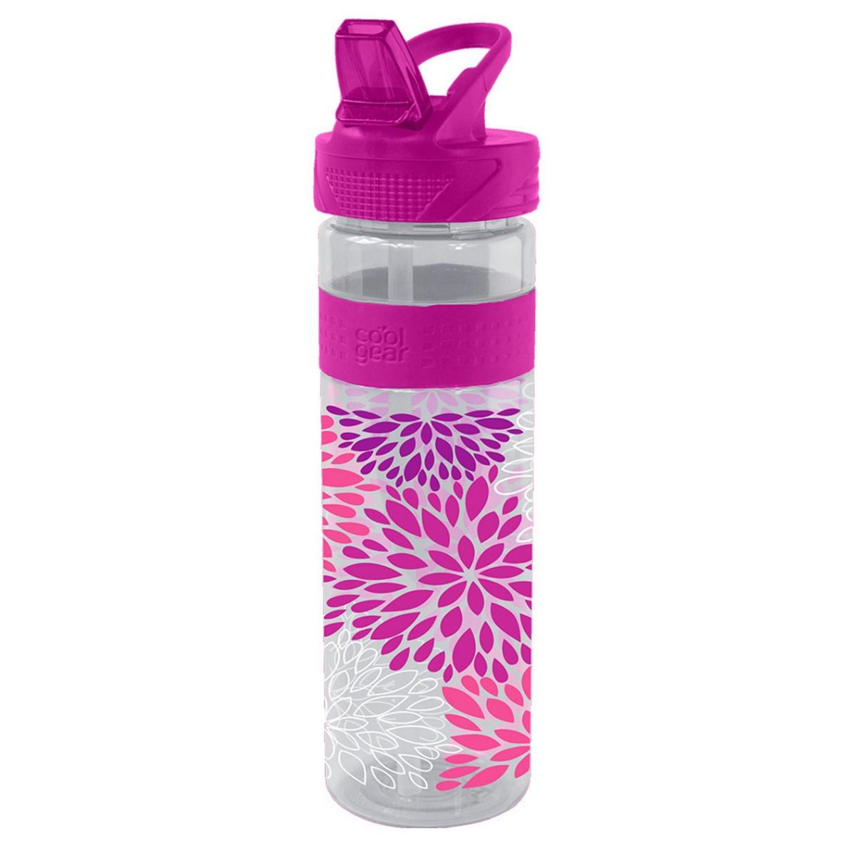Cool Gear Straight Wall Printed Water Bottle - Pink (650ml)