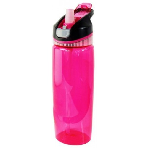 Cool Gear Plastic Arise Autosip Water Bottle - Pink, 0.82L