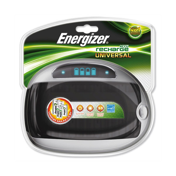 Energizer Universal Battery Charger for AA-AAA-C-D-9V rechargeable battery (pc)