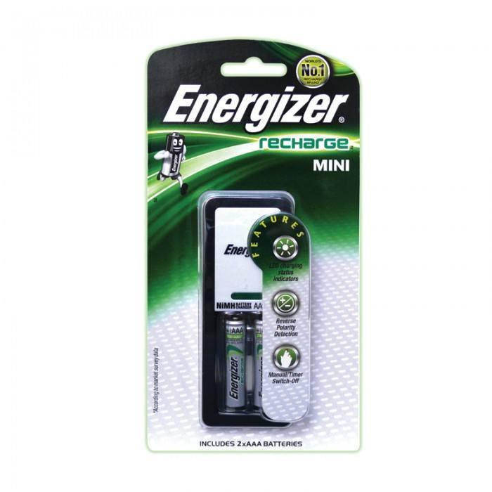 Energizer Mini Charger with 2 AAA NiMH Rechargeable Battery (pc)