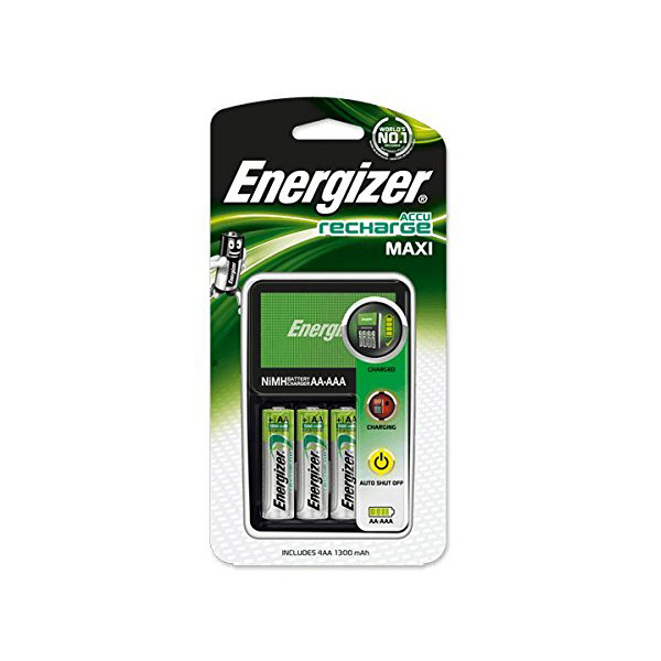 Energizer Accu Recharge Maxi Charger with 4 AA NiMH rechargeable battery (pc)