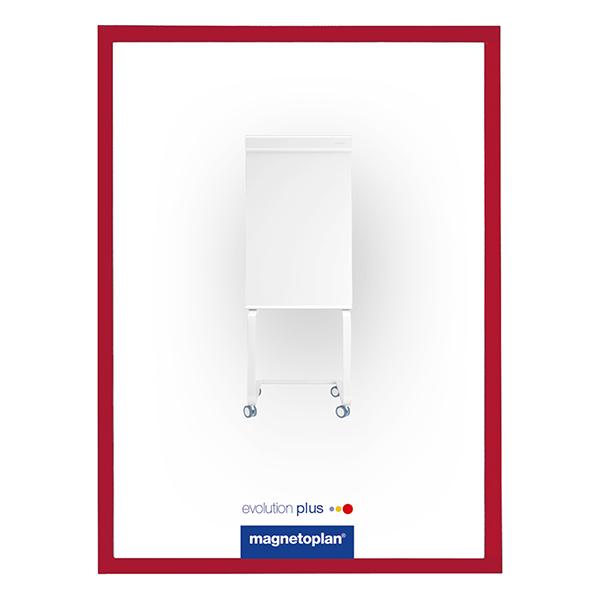 Magnetoplan Magnetic Display Frames COP 1130306 - Red (pkt/5sheets)