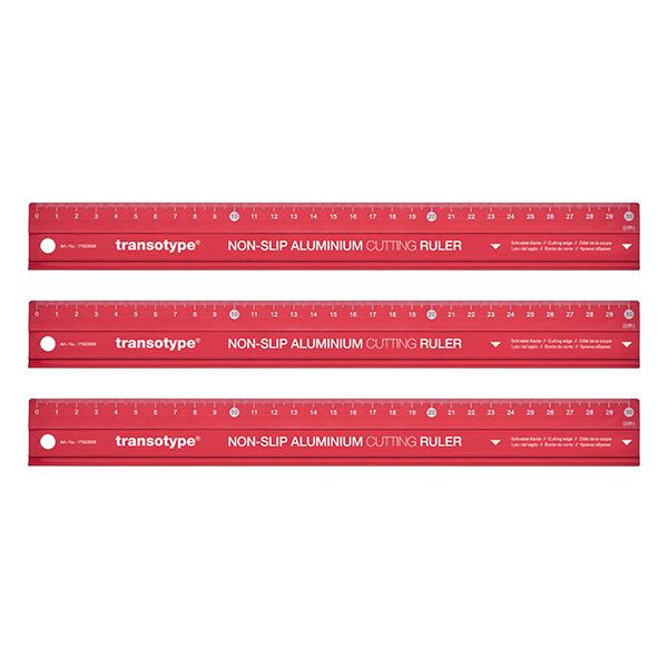 Magnetoplan COP 17503006 Aluminum Cutting Ruler - 30 cm (pc)