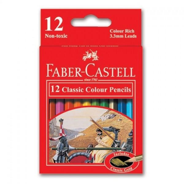 Faber Castell FCI115852 Classic Line Color Pencils (pkt/12pc)