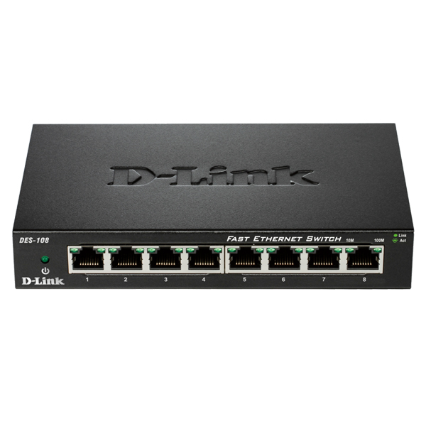 D- Link 8 port switch normal (pc)