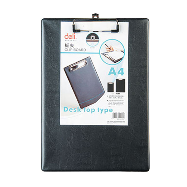 Deli 9244 Clip Board - Black (pc)