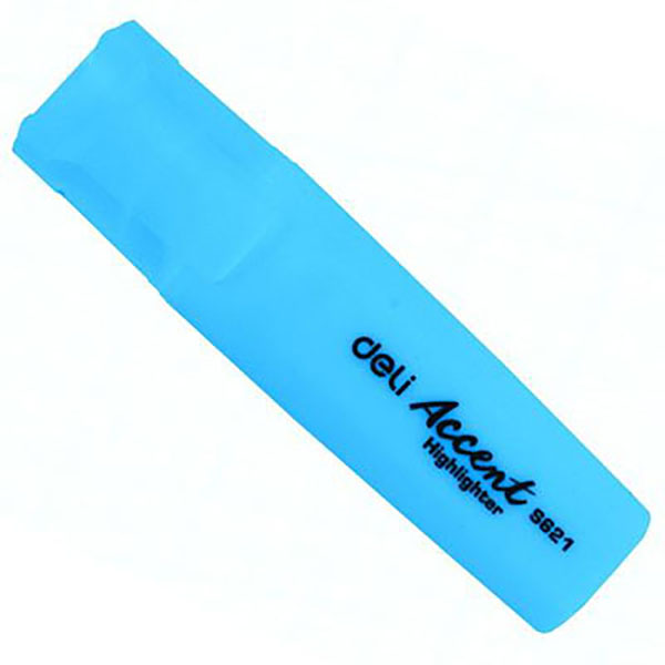 Deli Highlighter - Blue (pkt/10pcs)