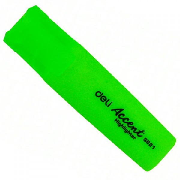 Deli Highlighter - Green (pkt/10pcs)