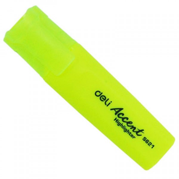 Deli Highlighter - Yellow (pkt/10pcs)