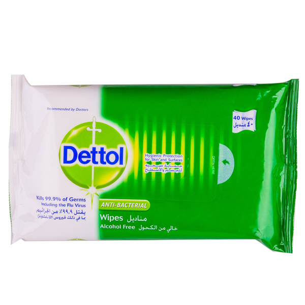 Dettol Antibacterial Wipes 40S (pc)