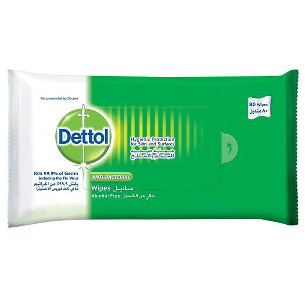 Dettol Antibacterial Wipes 80S  (pc)