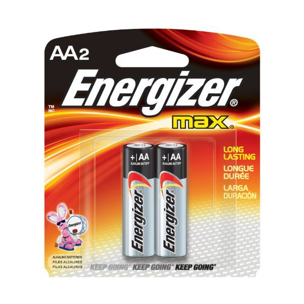 Energizer Max E91 Mini BP2 AA Alkaline Battery (pkt/2pc)
