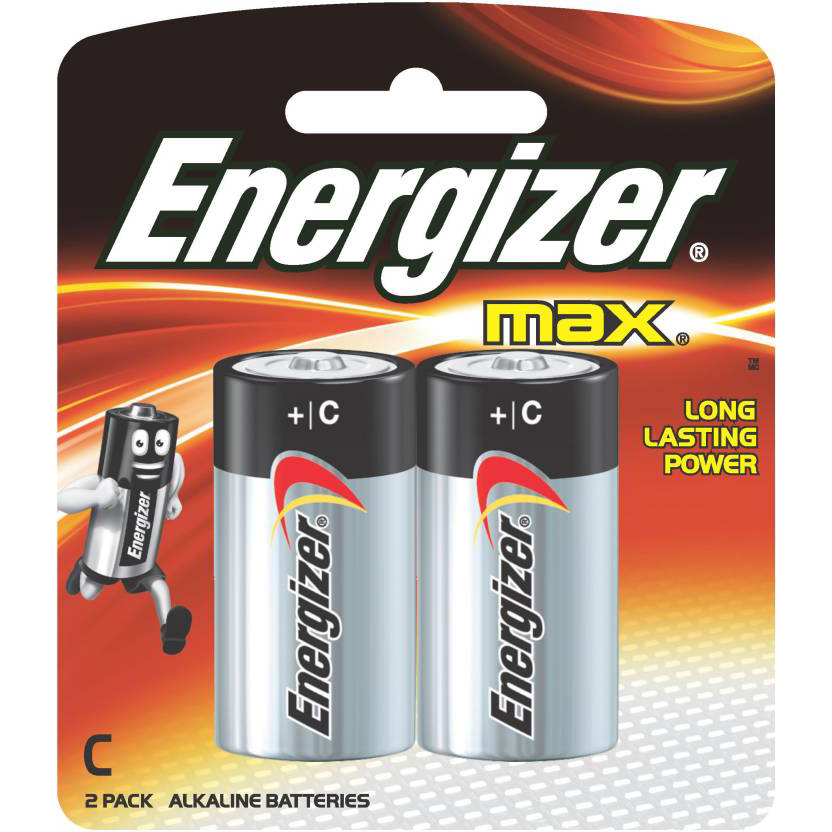 Energizer Max E93BP2 +C 1.5V Alkaline Battery with Power Seal Technology (pkt/2pc)