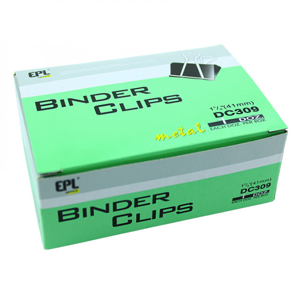 EPL DC309 Binder Clip - 41mm (pkt/12pc)