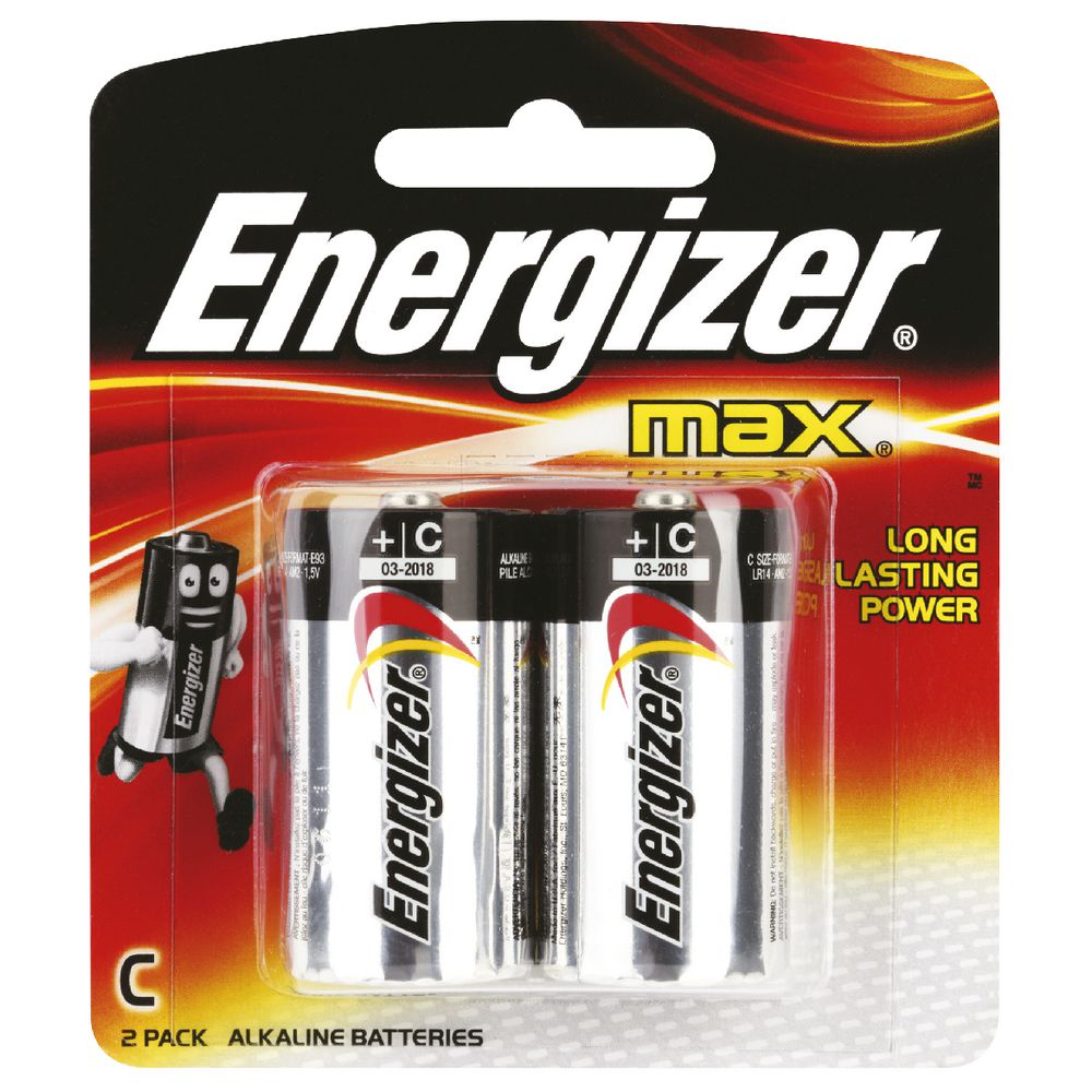 Energizer +C Battery (pkt/2pc)