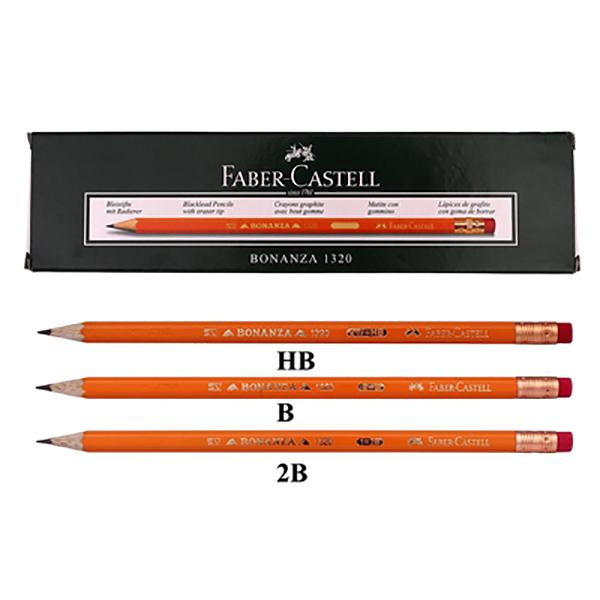 Faber Castell FCI1320 Bonanza Black Lead Pencil (pkt/12pc)