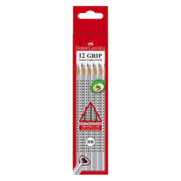 Faber Castell FCI111800 Triangular Graphite Pencil HB (pkt/12pc)