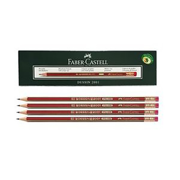 Faber Castell FCI2001HB Dessin Black Lead Pencil (pkt/12pc)