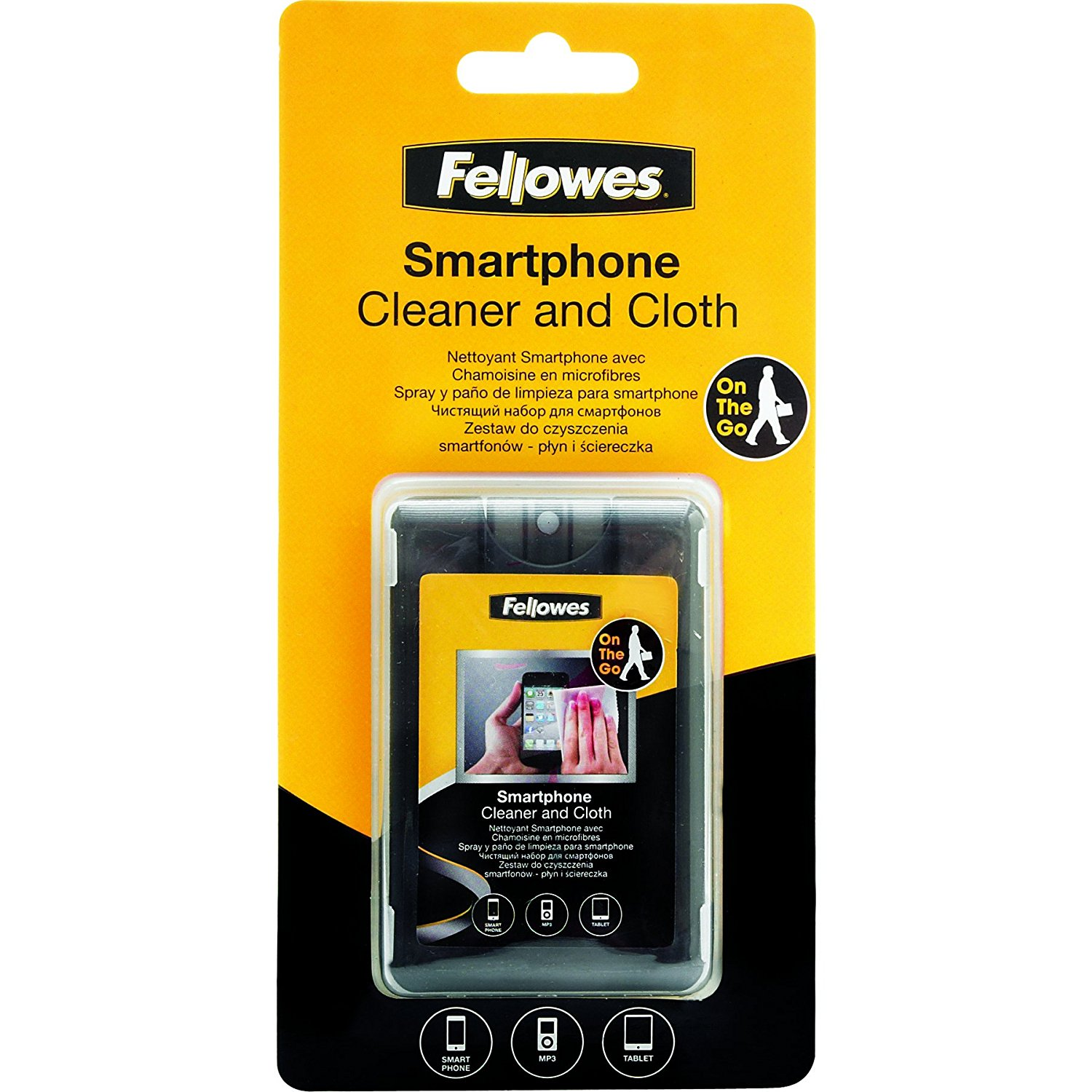 Fellowes Smart Phone Cleaner with Microfiber Cloth