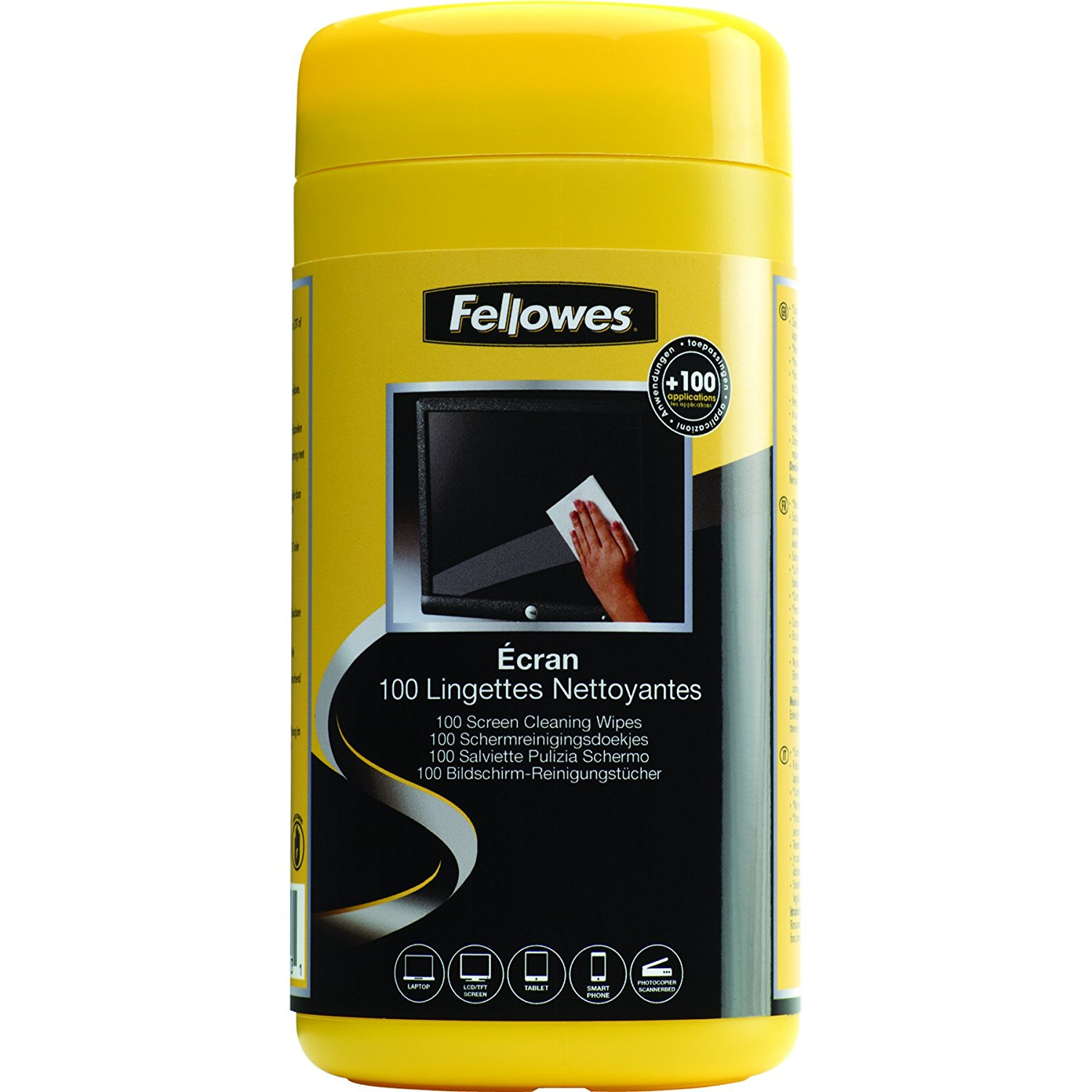 Fellowes Pre-Moistened Screen Cleaning Wipes - 100 per Tub (99703)