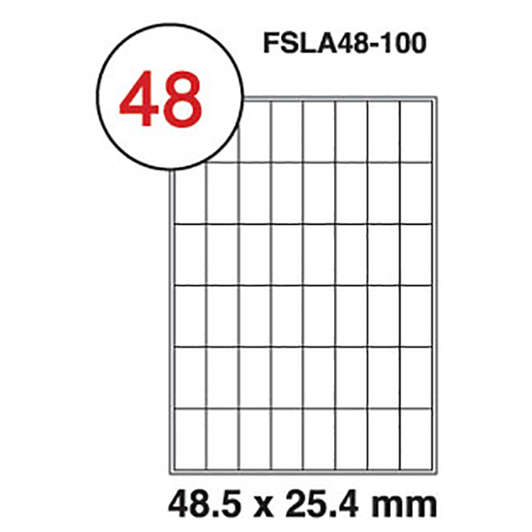 FIS Label sticker 199.6*289.1mm (100sheets) (pkt)