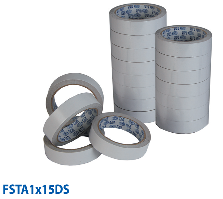 FIS Double-Sided Tape 1in x 15yds - FSTA1X15DS (pc)