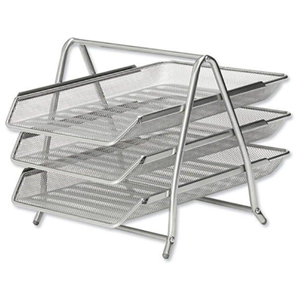 FIS Wire Mesh Office Tray (Silver) (pc)