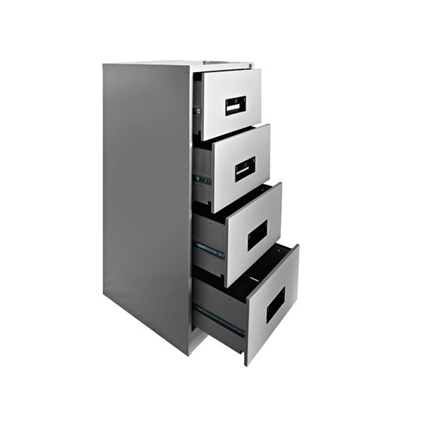 Rexel Steel Filing Cabinet 4 Drawers   Grey (pc)