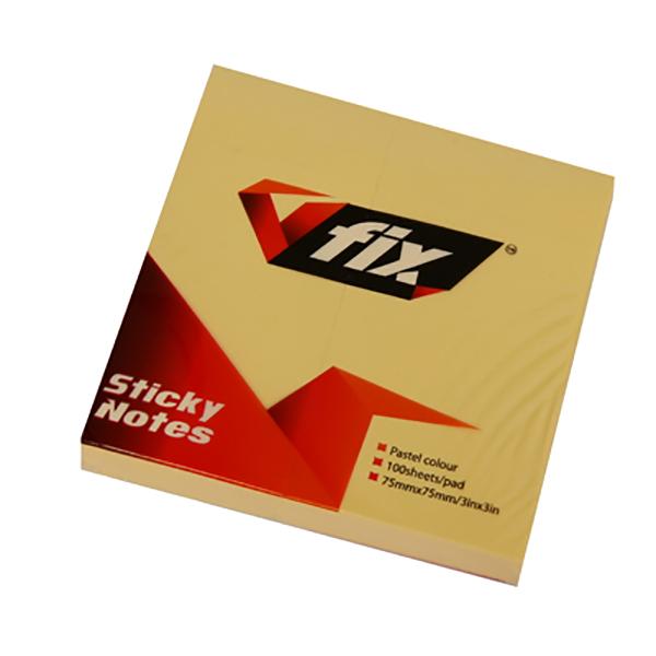 V Fix VF 33 Post-it Pad 3 x 3 - Yellow (pkt/12pc)