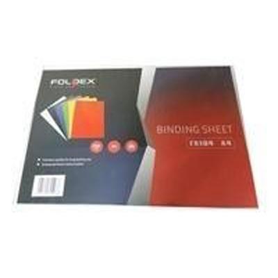 Foldex Binding Sheet A4 230gsm - Black (pkt/100pcs)