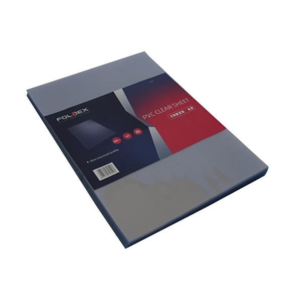 Foldex Binding Sheet 200 micron A3 - Clear (pkt/100pcs)