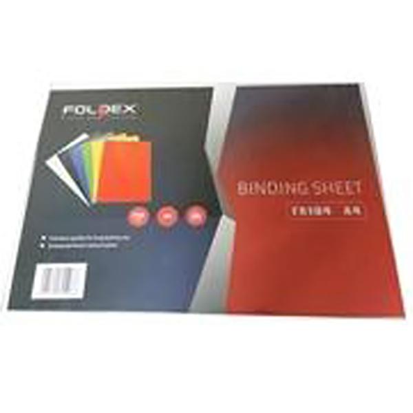 Foldex Binding Sheet A4 230gsm - White (pkt/100pcs)