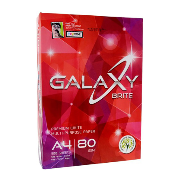 Galaxy Photocopy Paper 80gsm - A4 (box/5rm)