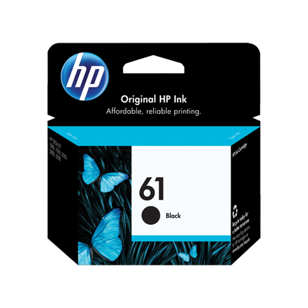 HP 61 Ink Cartridge (CH561WA) - Black
