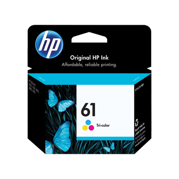 HP 61 Ink Cartridge (CH562WA) - Tri-Colour
