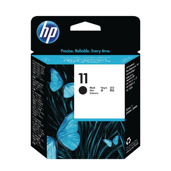 HP Ink 11 Black Printhead Cartridge (C4810A)