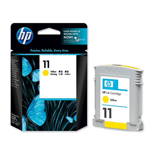 HP Ink 11 Yellow Ink Cartridge (C4838A)