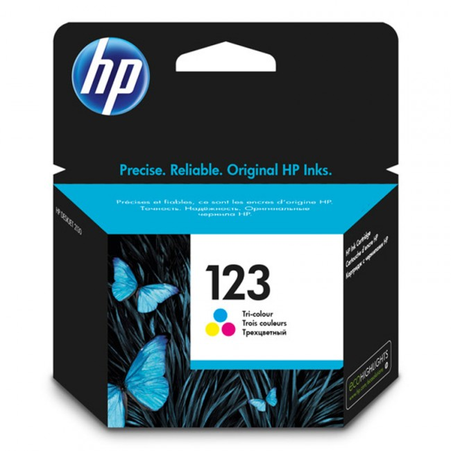 HP Ink 123 Tri-color Ink Cartridge (F6V16AE)