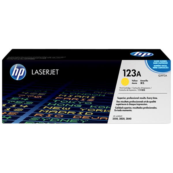 HP 123A Yellow Original Laserjet Toner Cartridge (Q39712A)
